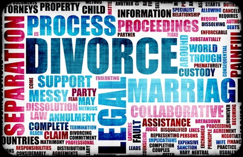 Photo of the wording that comes up when somebody wants to get a divorce, an area of family law regularly handled by the lawyers and attorney in the Edmonton law offices of The Family Law firm, serving clients throughout Alberta and the rest of Canada.