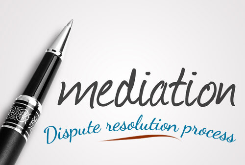 Photo displaying the words Mediation and Dispute resolution process, areas of family law handled by the family friendly lawyers at the Family Law firm, a law firm office in Edmonton offering legal services on divorce, separation, child custody, spousal support and property division.